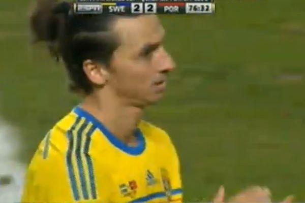 Zlatan Ibrahimović denies applauding Ronaldo hat-trick, as in this picture