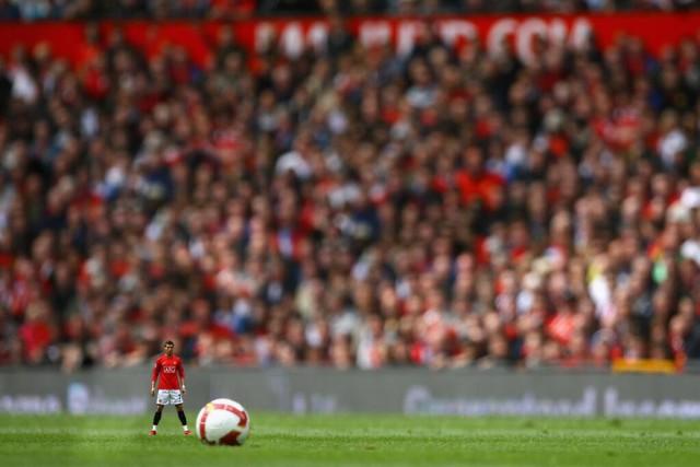 Cristiano Ronaldo as one of the shrunken footballers