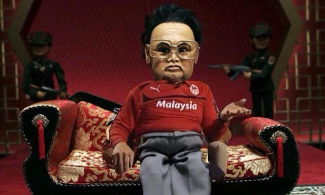 The puppet that inevitably formed one of the best Vincent Tan jokes