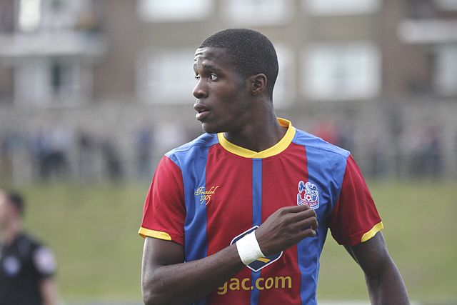 Wilfried Zaha's brother's alleged David Moyes Twitter rant may cause a problem for his brother pictured playing for Crystal Palace