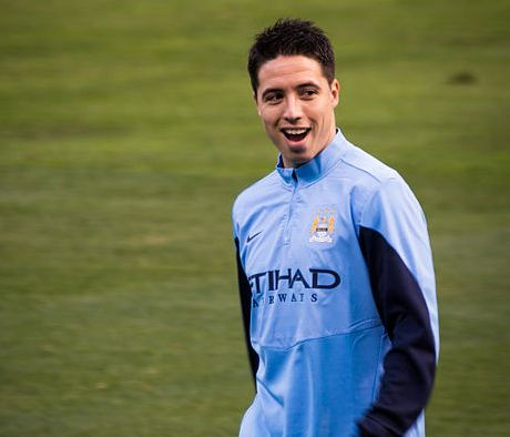Samir Nasri laughs at the Spurs jokes after the 1-5 Manchester City loss and slide into minus goal difference
