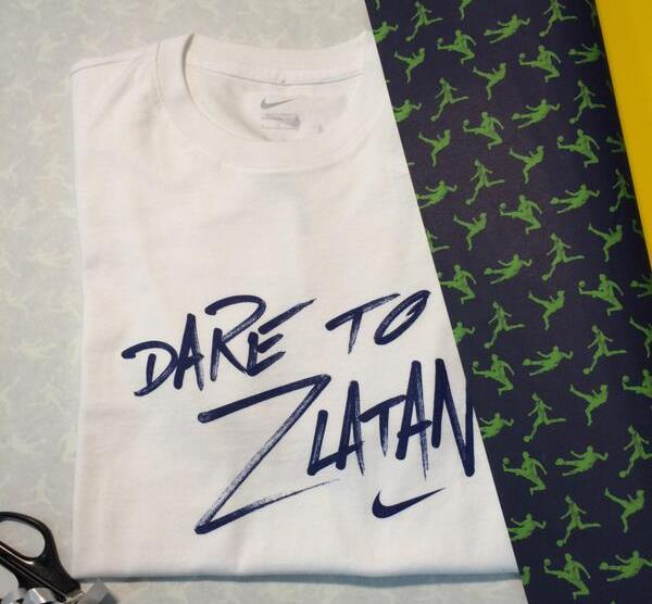 """Dare to Zlatan"" shirt for Cristiano Ronaldo birthday"