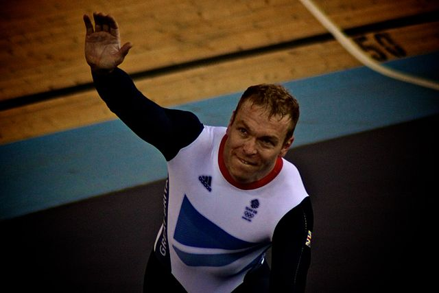 The cyclist in 2012, before the Chris Hoy abuse began