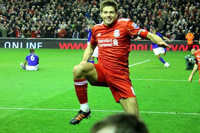No Steven Gerrard slips here