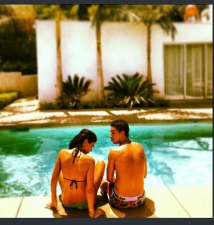One of the Anara Atanes photos, seen here with boyfriend Samir Nasri