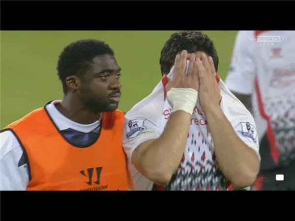 Luis Suárez crying jokes were cracked after these scenes following Crystal Palace's comeback