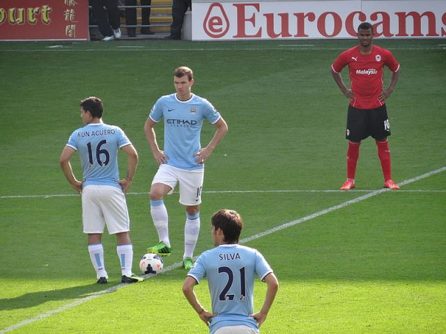 Sergio Agüero and Edin Džeko, two of our Fantasy Football tips for Gameweek 38