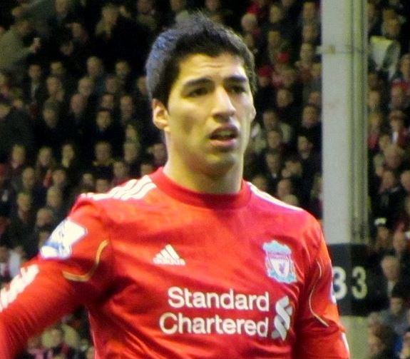 Luis Suárez crying looks a bit like this but with more tears