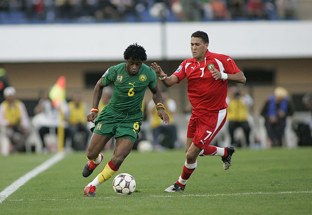 Seen here in 2009 with Mohamed Chihani before the incident at Brazil 2014 that led to the Alex Song red card jokes