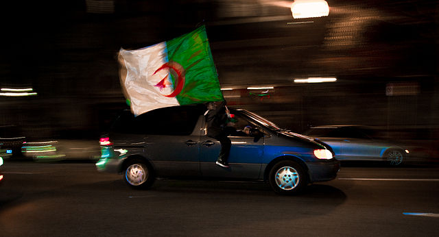 The Algeria fans will be celebrating like this while reading the jokes and tweets from South Korea vs Algeria