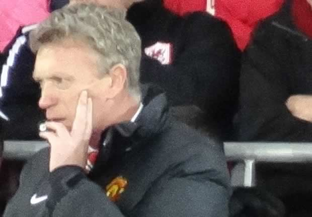 A David Moyes van was parked outside Old Trafford by MK Dons sponsors Sondico, joking they wanted him back at Manchester United following the 4-0 defeat
