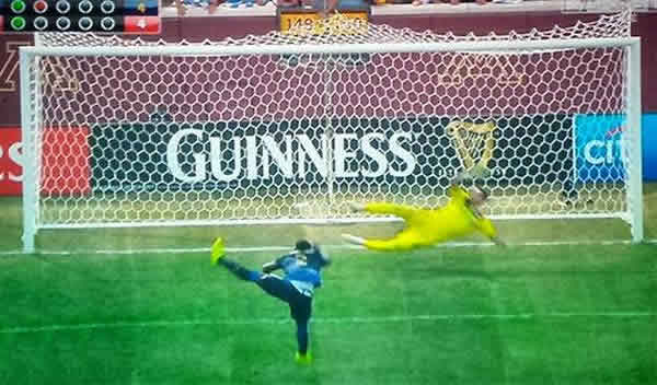 This acrobatic miss in the International Chapions Cup against Olympiacos led to many Micah Richards penalty memes and jokes