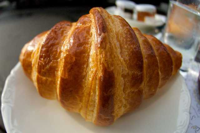 This croissant was soaked by the Scotland Euro 2020 bid
