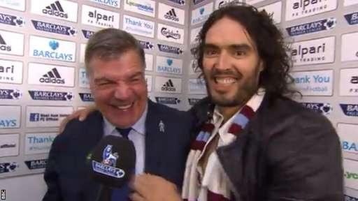 Russell Brand steps out with Sam Allardyce
