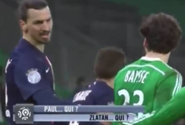 """Zlatan asks """"Who are you?"""" to Paul Baysse"""