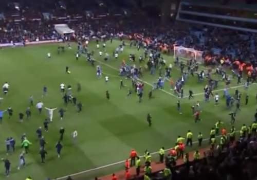 The Aston Villa v West Bromwich Albion pitch invasion tweets came live from the FA cup quarter-final action
