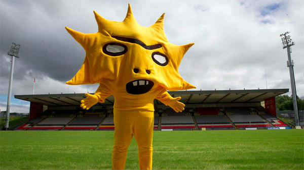 Here's the new Partick Thistle mascot, Kingsley