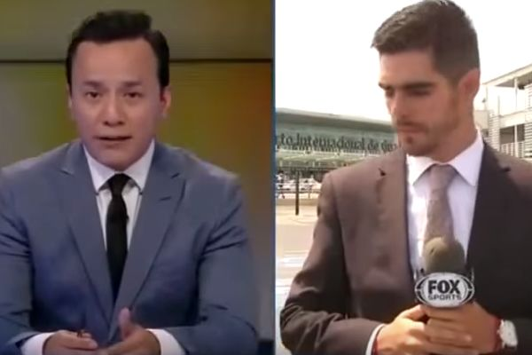 The Fox Sports Mexico reporter hit by car during a live broadcast while analysing Club América 1-2 Chivas