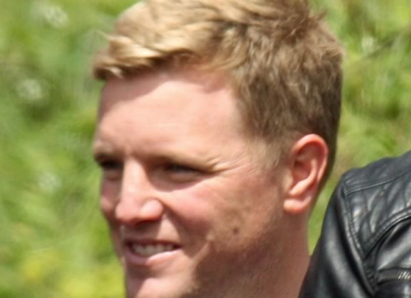 Eddie Howe smiling at the Man Utd jokes after their 2-1 defeat at Bournemouth