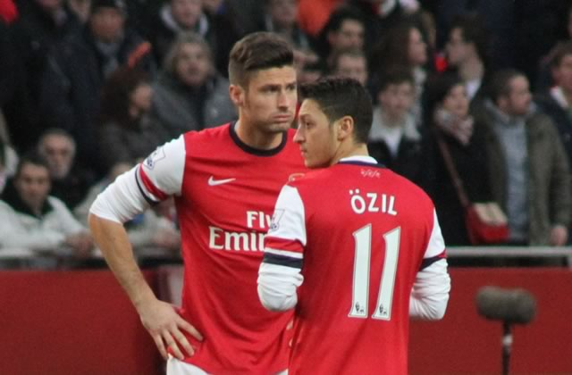 Olivier Giroud will be pleased to hear the Mesut Özil assist jokes after another one helped him out against Manchester City in Arsenal's 2-1 win