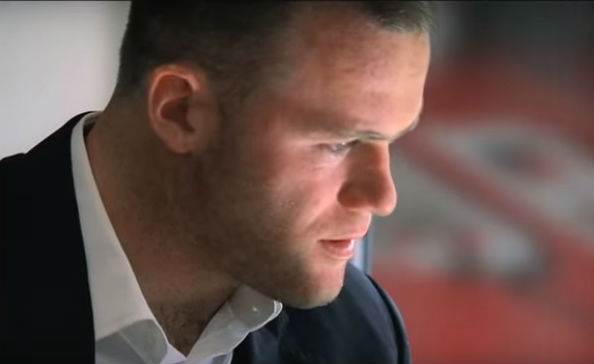 Wayne Rooney acting in in one of his starring roles