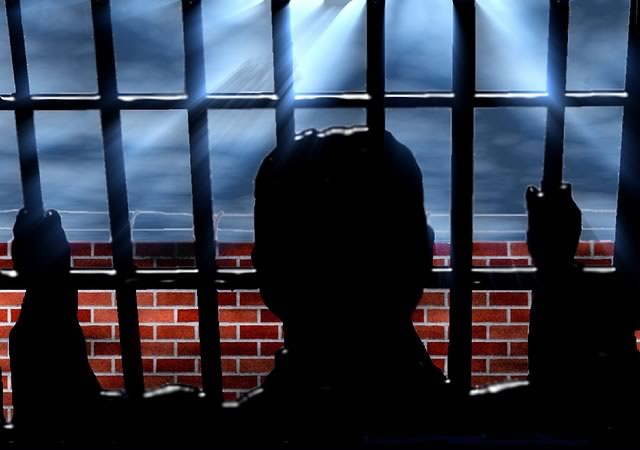 An artist's impression of a prisoner oultines the Adam Johnson sentencing jokes as the footballer receives six years