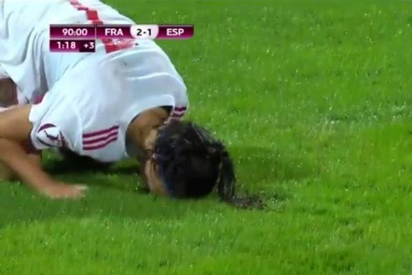 Spain captain Nahikari García after her last-minute Women's Euro U19 final miss