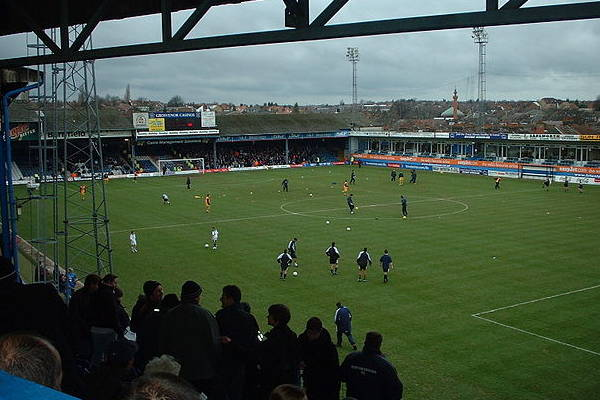 Kenilworth Road, where many of the jokes were made as Aston Villa lose 3-1 to Luton in the EFL Cup first round