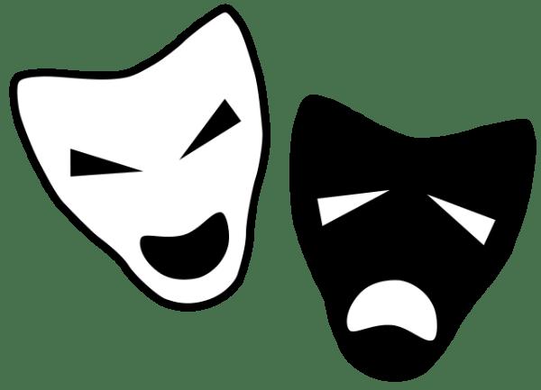 Mourinho v Pep as symbolised by masks