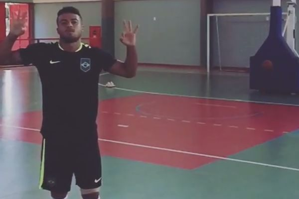 Brazil international Rafinha's basketball miss