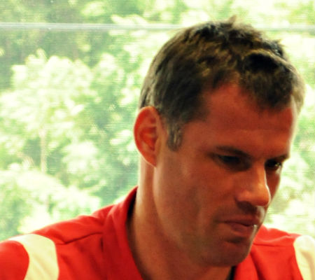 Jamie Carragher will give Gary Neville a ribbing for Liverpool v Man Utd