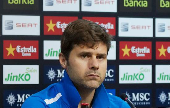 Mauricio Pochettino looks happy to qualify for the Europa League