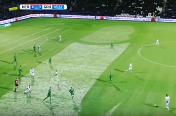 Snow in shape of penis for Heracles 1-4 Groningen
