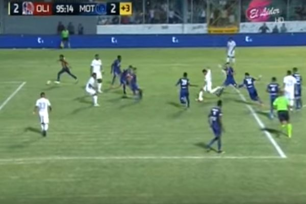 Pitch invader scores goal at the same time as added time equaliser in Honduras