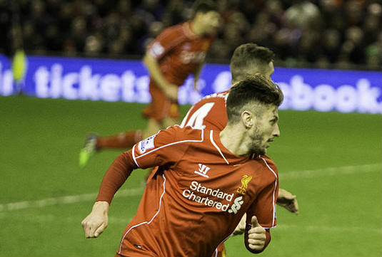 Liverpool's Adam Lallana injured his thigh slipping on a banana