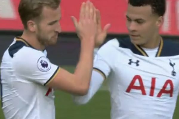 There were lots of Kane Alli handshake jokes as the Spurs goal celebration was ridiculed online