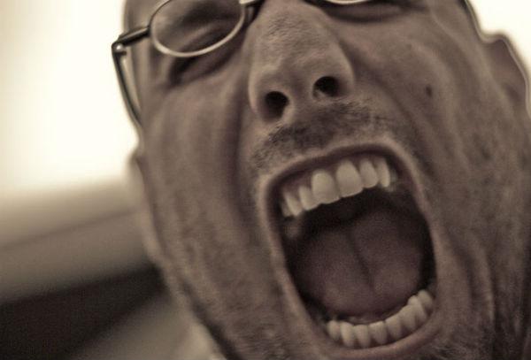 Man screams about international break