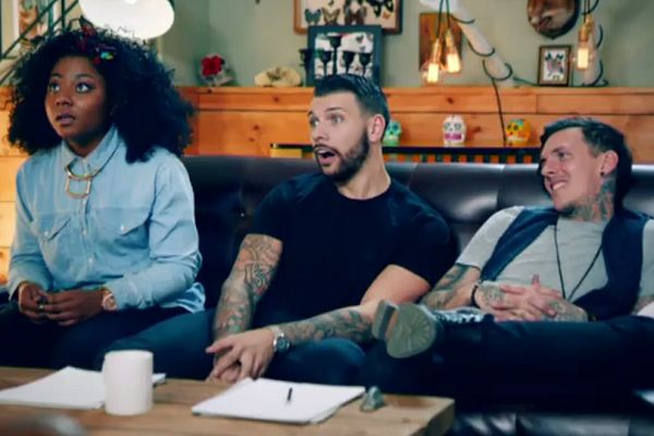 A man has a Gary Lineker shags crisps tattoo covered up on Tattoo Fixers