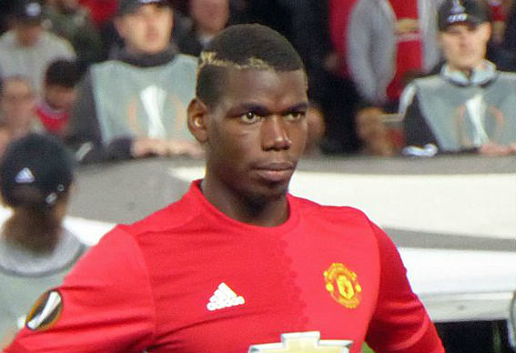 Paul Pogba, whose transfer to Man Utd is under investigation