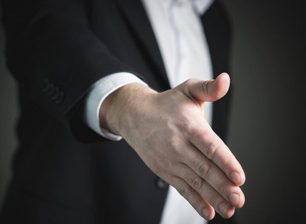 Preparing a handshake for one of the many deals that formed the basis for the summer 2017 transfer deadline day jokes