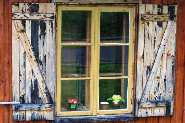 A shut window