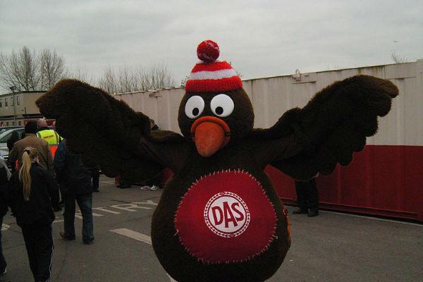 Bristol City mascot Scrumpy