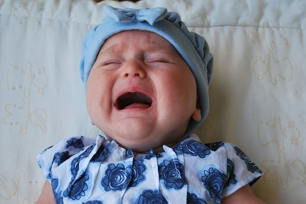 A crying child similar to the one in the stands for Arsenal's 0-3 defeat to Manchester City in the Carabao Cup final, who is thankfully too young to see the jokes