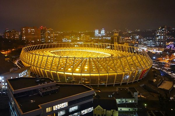 The Olimpiyskiy in Kiev, where all the Champions League final jokes from Real Madrid 3-1 Liverpool originated