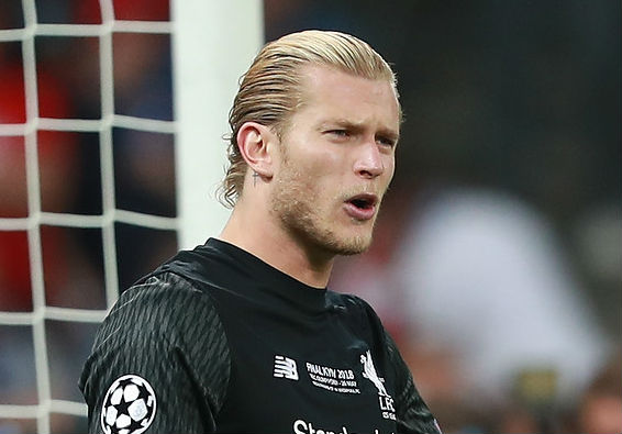 Liverpool goalkeeper Loris Karius walked alone after the Champions League final