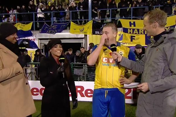 There were lots of jokes during Haringey Borough vs AFC Wimbledon, FA Cup first round