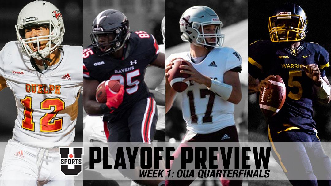 U SPORTS Playoff Preview: Week 1 – OUA Quarterfinals
