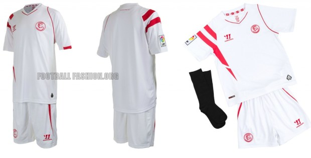 Sevilla Futbol Club 2014 2015 Warrior Home Football Shirt, Kit, Soccer jersey, Camiseta
