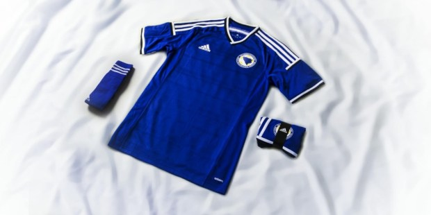Bosnia and Herzegovina 2014 World Cup and 2015 adidas Home and Away Soccer Jersey, Football Kit, Shirt