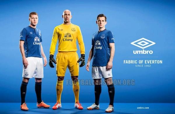 Everton FC 2014 2015 Umbro Home Football Kit, Soccer Jersey, Shirt